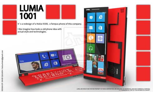 The Nokia Communicator is Back! Lumia 1001 Render Awakens its Spirit!