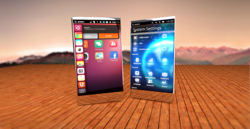 Primus is an Ubuntu Touch Smartphone render With Lots of Gloss