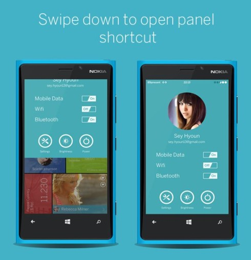 Windows Phone 9 Concept Finally Brings a Decent Shortcut Area