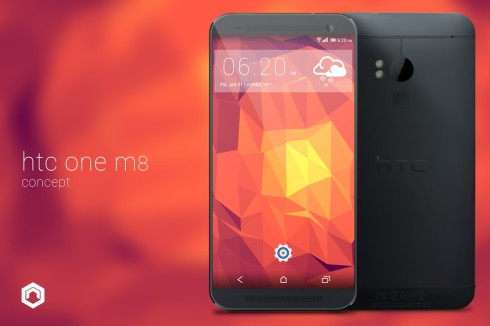 HTC One M8 Rendered by Nikolai Prettner