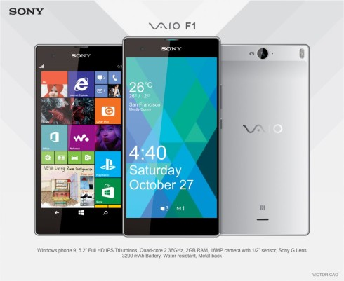 Sony Vaio F1 is a Windows Phone 9 Handset That Would Make Sense
