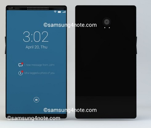 Samsung Galaxy Note 4 Gets Very Minimalistic Render, Some Specs