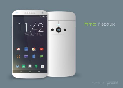 HTC Nexus 2014 Rendered With Flat Android 4.5 UI in Tow