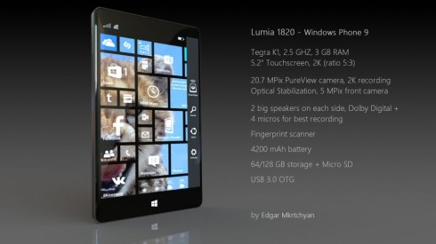 Lumia 1820 is a Brand New Phone by Microsoft Without Nokia Branding