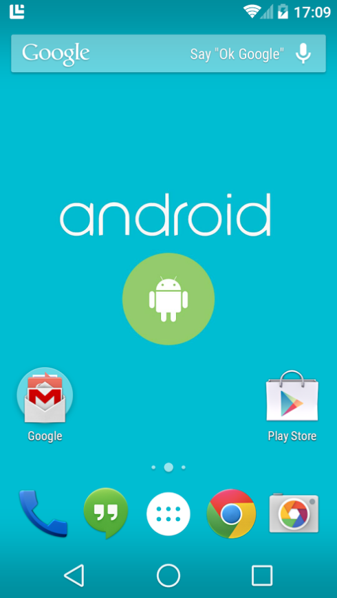 Android L Homescreen Extracted as Developers Play With it