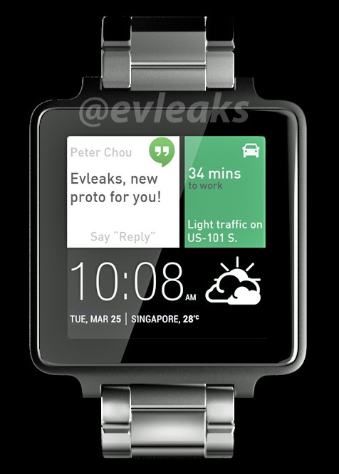 HTC Android Wear Rendered for @Evleaks, Looks Solid