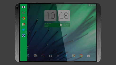 HTC T12 Tablet Rendered, Keeps All the Goodies of the One Series, Increases Diagonal