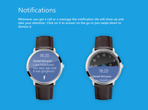 Microsoft Smartwatch Features Cortana and HERE Maps on a Circular Body