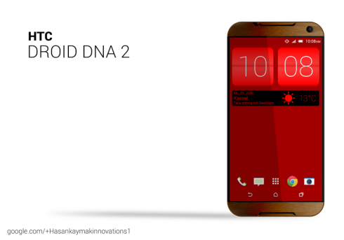 HTC Droid DNA 2 and HTC One Wear S Smartwatch Rendered by Hasan Kaymak
