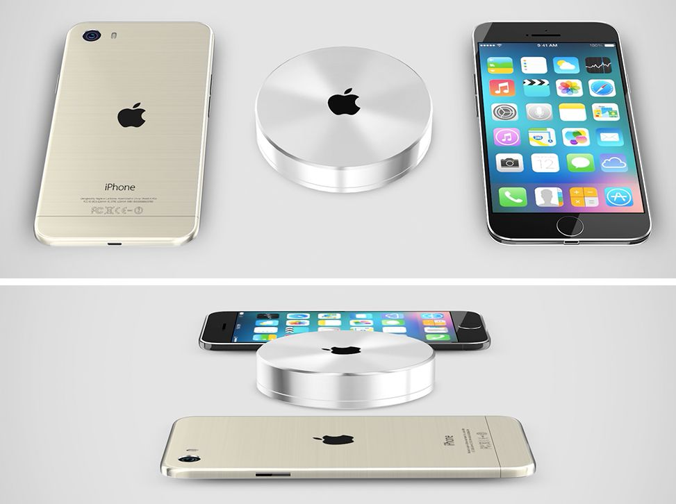 iphone 6 pro rendered with wireless charging video concept phones. Black Bedroom Furniture Sets. Home Design Ideas