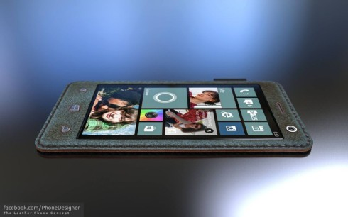 Flexible Leather Phone Looks Sexy With Windows Phone on Board
