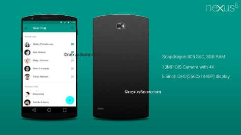 Nexus 6 Snapdragon 805 Concept Gets Rendered