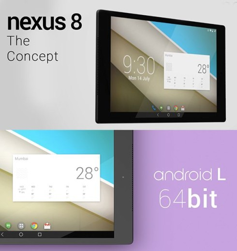 HTC Nexus 8 64 Bit Android L Tablet Rendered by Vishal Bhanushali (Video)