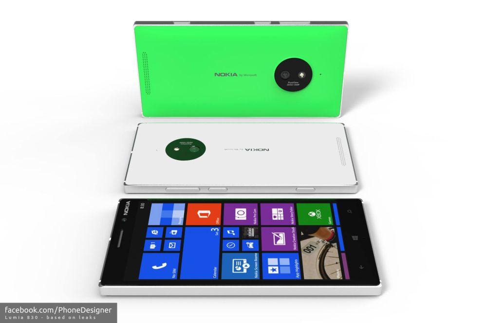 Nokia Lumia 1625 Nokia Lumia 830 Portrayed in