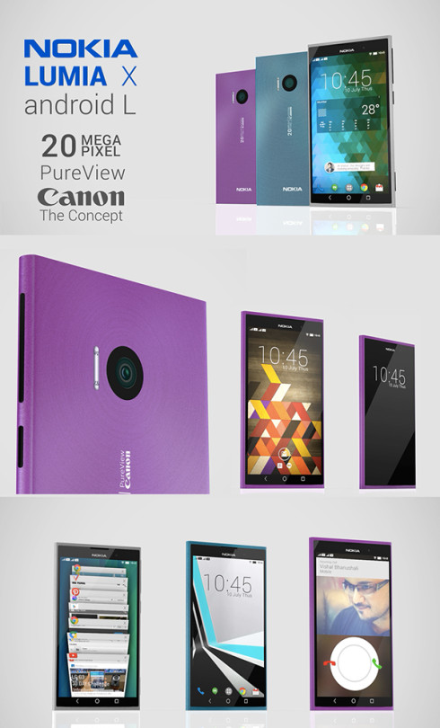 Nokia Lumia X Android L Concept Features Canon Camera (Video)