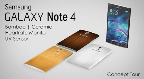 Samsung Galaxy Note 4 Uses Bamboo and Ceramic as Premium Materials (Video)