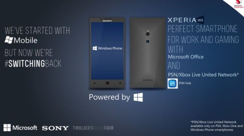 Sony Xperia WX is a Windows Phone Model With Office and PlayStation/Xbox Services