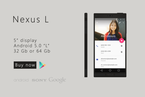 Sony Nexus L Imagined by Adam Safranek