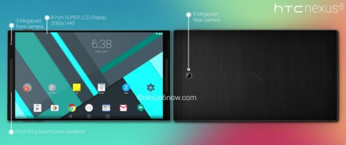 Google Nexus 8 Tablet Concept Seems Built Around Android L