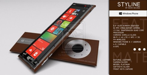 Styline Concept Phone is a Luxury Phone With Windows Phone 8 and Android
