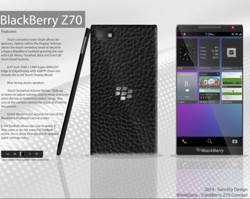 BlackBerry Z70 Concept Feature a Bezel Free Front
