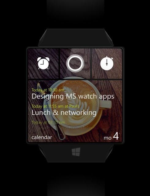 Microsoft Windows Watch Justifies a Square Watch Face