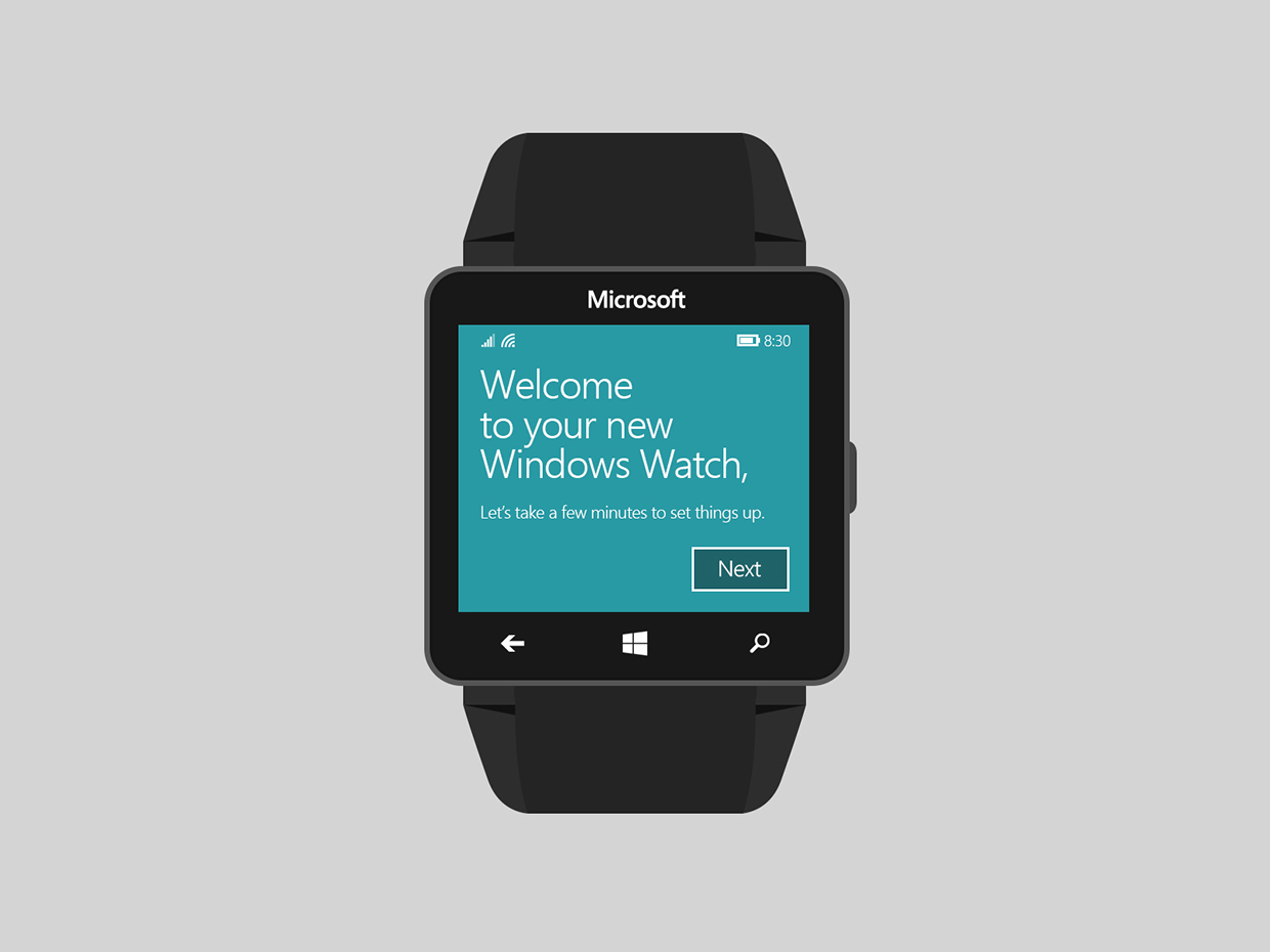 Microsoft Windows Watch Concept Focuses on UI Rather than ...
