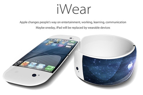 Apple iWear is a Bracelet That Turns Into a Flexible Phone