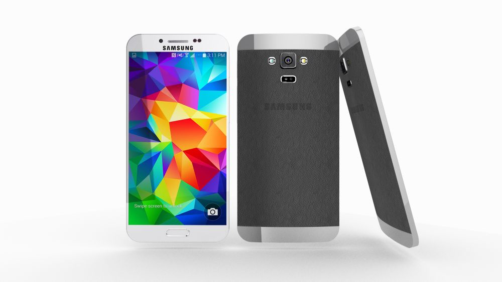 Samsung galaxy s6 once again rendered this time with semi metallic