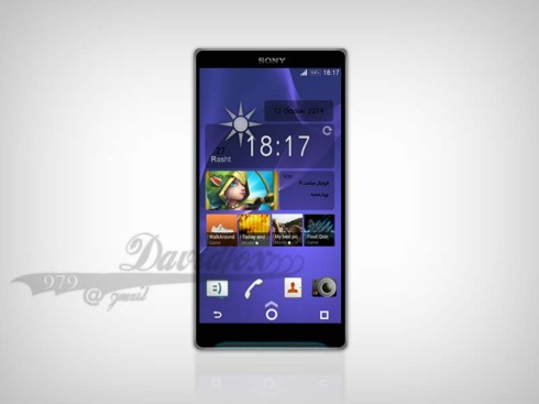 Sony Xperia Z4 Concept Rendered by Babak Soren, New UI Also in the Mix
