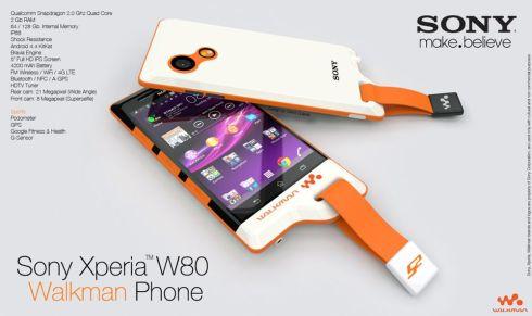 Sony Xperia W80 Walkman Phone Rendered by David Quijada