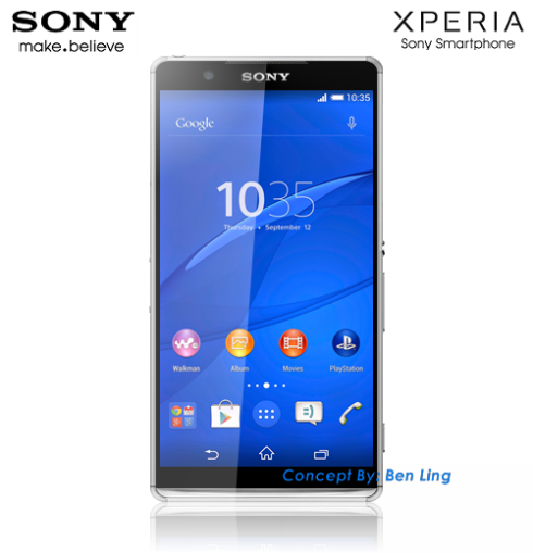 Sony Zperia Z4 Compact Gets Rendered by Ben Ling, Brings Back Illumination Bar