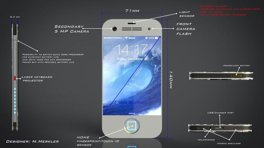 iPhone 8 Concept Looks Like Iron Man's Smartphone | Concept Phones