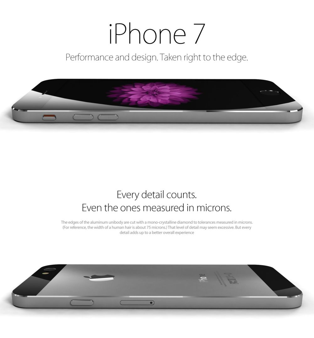 iPhone 7 Concept Rendered by Yasser Farahi, Redefines Ultraslim