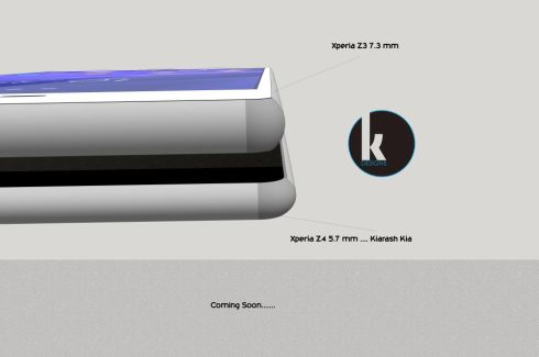 Sony Xperia Z4 Render Finalized by Kiarash Kia, is Only 5.6 Mm Thick