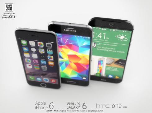 HTC One M9 Versus iPhone 6 and Galaxy S6: Battle of Designs, Martin Hajek Version
