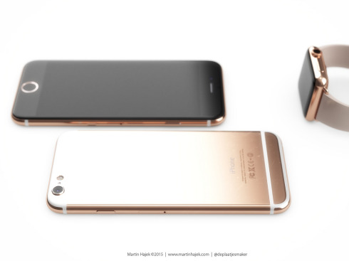 Rose Gold iPhone 6S Rendered by Martin Hajek