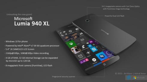 Microsoft Lumia 940 XL concept 3