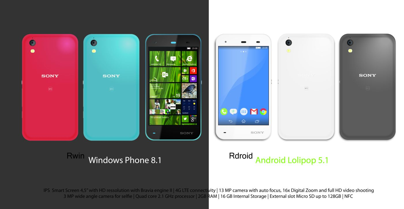 Camera Android Sony Phone sony xperia r is a dual boot phone with both windows 8 1 concept and android 2