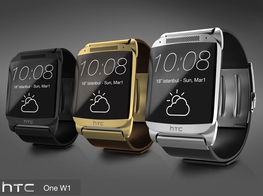 HTC One W1 Watch is a Super Smartwatch With Metallic Design, Big ...