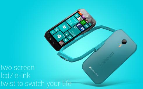 Alcatel Dual display Windows Phone concept 1