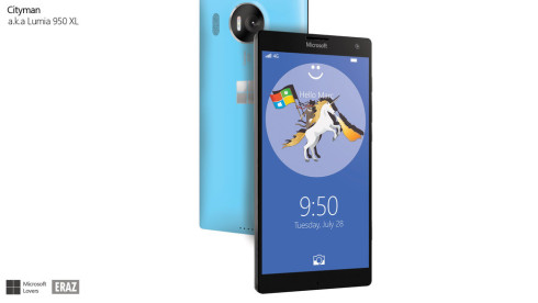 Microsoft Cityman Lumia 950 XL render 2