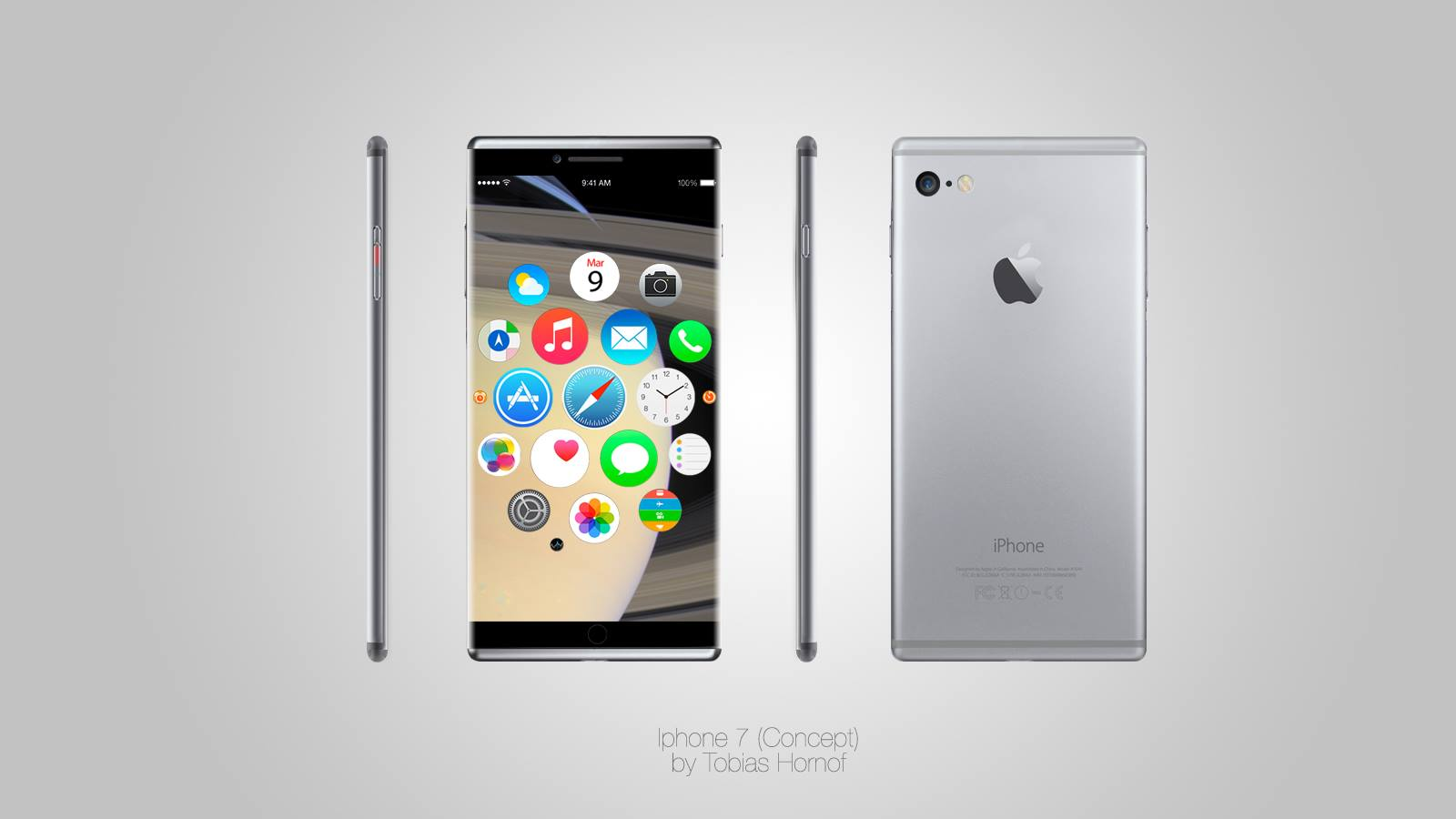 iPhone 7 Edge to Edge Rendered by Tobias Hornof  Concept Phones