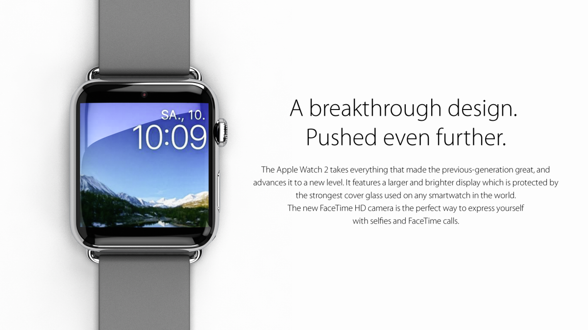 Apple Watch 2 Gets a Fresh Concept, With Camera Integrated ...