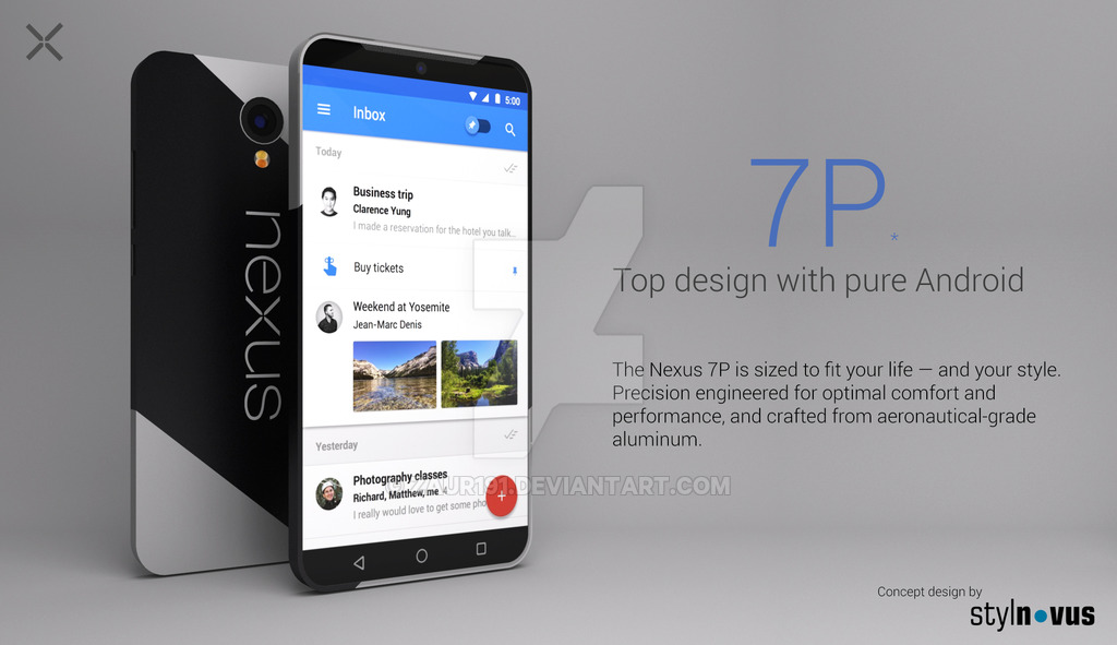 nexus 7p concept is somewhere between a phone and tablet concept phones. Black Bedroom Furniture Sets. Home Design Ideas