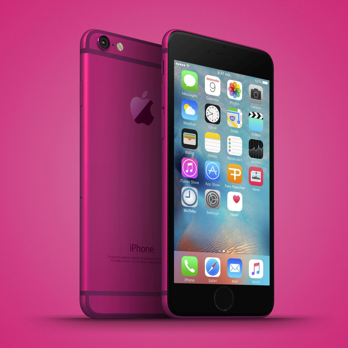 Iphone  Plus Pink Screen