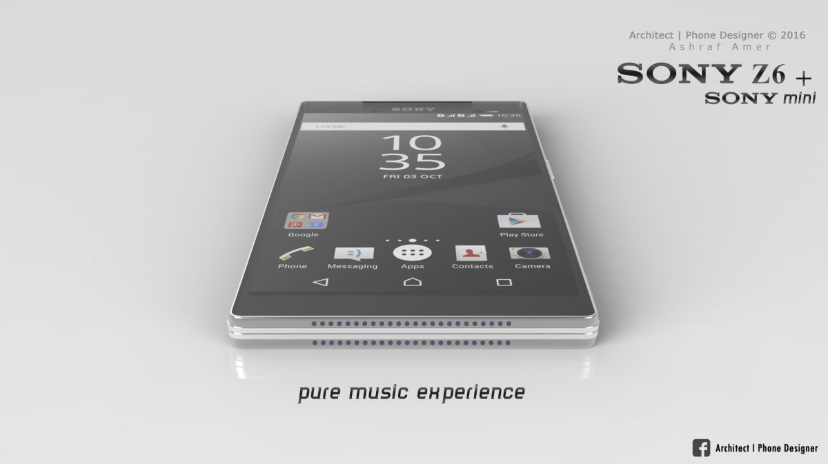 Sony Xperia Z6 Rendered With 4K Display; Xperia Mini Also Rendered ...