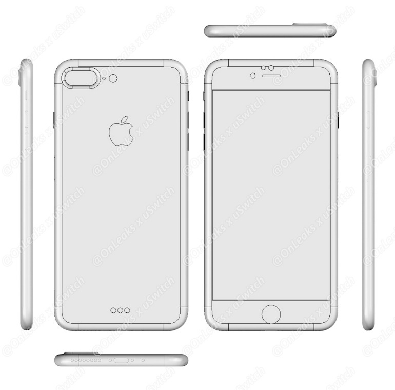 Iphone 7 and iphone 7 plus blueprints and schematics leaked iphone 7 plus blueprint malvernweather Images
