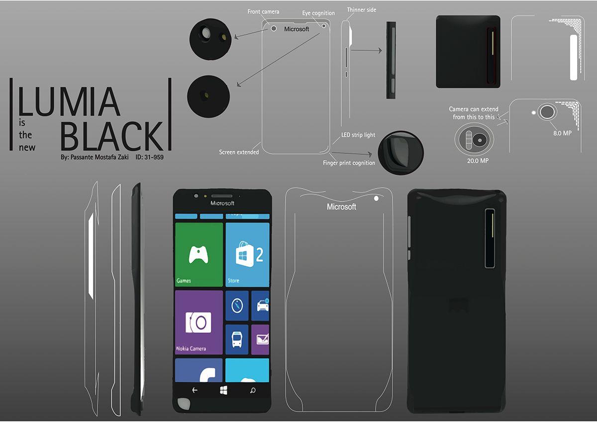 30a3409167febb Nokia Lumia Black Has A Strange Form Factor May Offer Nice Ergonomics  Concept Phones