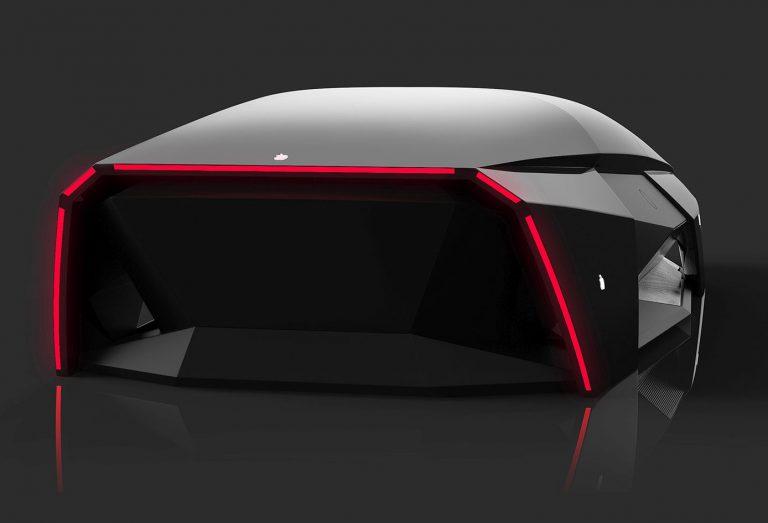 Přehnaně futuristický koncept Apple auta